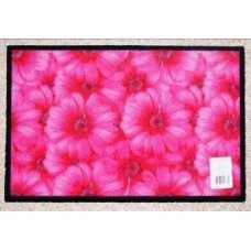 Коврик придверный Deco-UP Цветы (50*75 см)