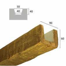 Балка рустик декоративная 90х60мм Дуб светлый, длина 2.0 м