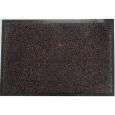 Коврик придверный разрезной ворс черн/коричневый 50х80