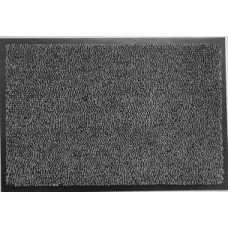 Коврик придверный разрезн ворс черн/серый 60х90