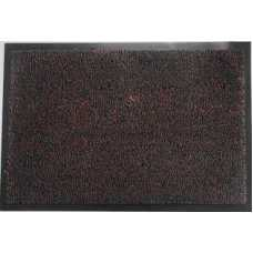 Коврик придверный разрезн ворс черн/коричневый 80х120