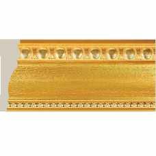 Плинтус потолочный Ионики 90 мм, золото