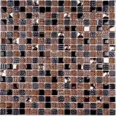 Мозаика стеклянная Crystal brown