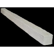 Фальшбалка фасадная рустик, 100х100мм Белая, длина 1м