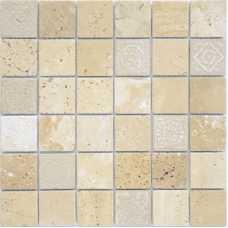 Мозаика из натурального камня Art Stone Travertino beige