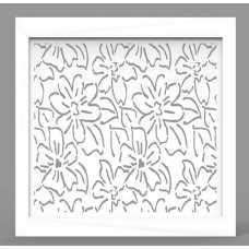 Экран МДФ Fresa Цветы, белый