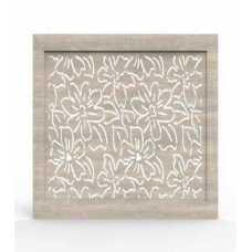 Экран МДФ Fresa Цветы, дуб серый