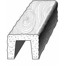 Балка рустик декоративная 200х130мм Белая, длина 3.0м