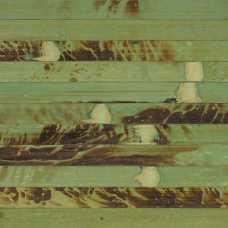 Бамбуковое полотно Дизайн,14 м. Зеленая черепаха, 17 мм