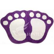 Коврик Shahintex Microfiber лапки 40*60 фиолетовый