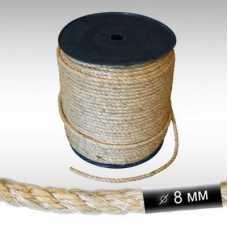 Канат сизалевый D 8 мм, длина 10 м