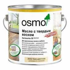 Масло Osmo бесцветное с твердым воском Original 3032 шелковисто-матовое (0,75 л)