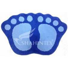 Коврик Shahintex Microfiber лапки 40*60 синий