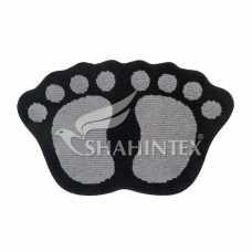 Коврик Shahintex Microfiber лапки 40*60 серый