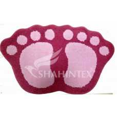 Коврик Shahintex Microfiber лапки 40*60 розовый