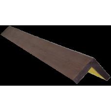 Декоративный уголок модерн 145*145 мм Дуб темный, длина 1м