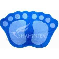 Коврик д/в Shahintex Microfiber лапки соединенные 40*60 голубой