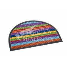 Коврик придверный Lux Shahintex multi-color 40*60 (полукруглый) радуга