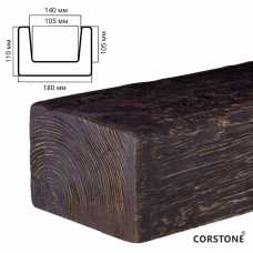 Архитектурный брус 110х180мм Темная секвойя, длина 4,0 м