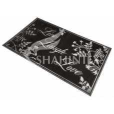 Коврик придверный резиновый с покрытием SHAHINTEX SH08 серебро 45*75