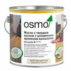 Масло Osmo бесцветное с твердым воском Rapid 3262 матовое (0,75 л)