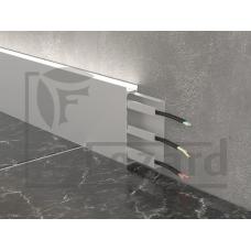 Плинтус кабельный алюминиевый с led подсветкой ALP-G80LA