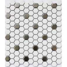 Мозаика керамическая Babylon Silver matt