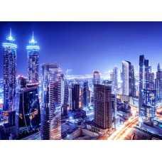Вид на ночной город H-090, 200х147