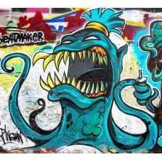 Граффити осьминог Б1-025, 300*270 см