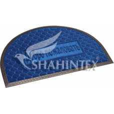 Коврик придверный влаговпитывающий SHAHINTEX МХ10S синий 40*60 см полукруглый