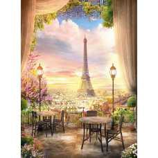 Кафе в Париже H-015, 200х270