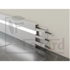 Плинтус кабельный алюминиевый с led подсветкой ALP-G80LF