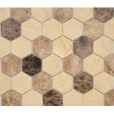 Мозаика Pietrine Hexagonal Pietra Mix 1 Mat hex