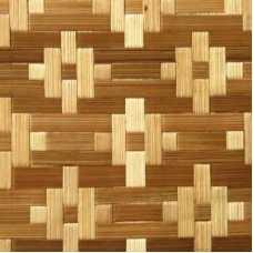 Стеновые бамбуковые панели Цветы белые 2440*1220 мм (двухслойные)