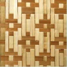 Стеновые бамбуковые панели Цветы коричневые, 2440*1220 мм (однослойная)